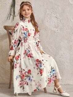 Stylish Dresses For Girls, Stylish Dress Designs, Frocks For Girls, Little Girl Dresses, Girls Dresses, Indian Fashion Dresses, Girls Fashion Clothes, Girl Outfits, Frock Fashion