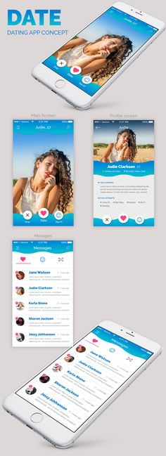 Dating app UI concept on Behance