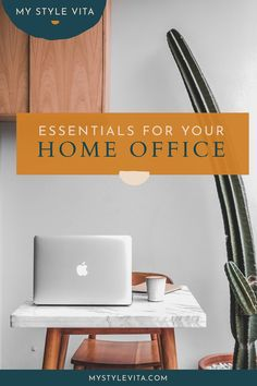 My home office essentials list for a productive and clutter free workspace. These items will keep your desk organized and allow you to be more productive in a clutter-free workspace. #homeoffice #HomeDecorNearMe Home Decor Near Me, Home Wall Decor, Big Comfy Chair, Cord Organization, Office Essentials, Storage Bins, Clutter, Modern Decor, Decorating Your Home