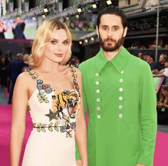 Margot Robbie and Jared Leto Twin in Gucci at the 'Suicide Squad' Premiere