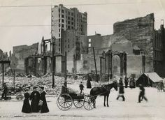What San Francisco looked like 110 years ago - after the 1906 earthquake.