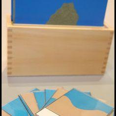 Formas de la Tierra y el Agua Montessori - Imprimible Gratis