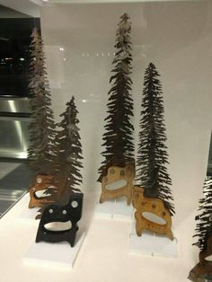Fir Trees made from saws