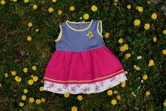 Kinderkleid in Größe 98 aus Baumwolle, Tracht von Sassybash auf DaWanda.com