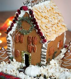 How To Make A Healthy Gingerbread House - Healthy Gingerbread House-- no nuts for my class!