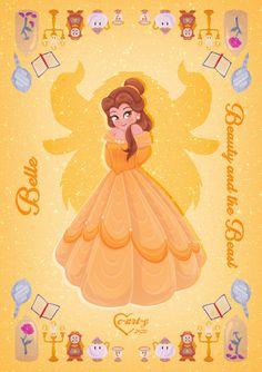 Disney Princess Drawings, Disney Princess Art, Disney Belle, Disney Fan Art, Disney Dream, Disney Drawings, Disney Love, Disney Magic, Princess Cards