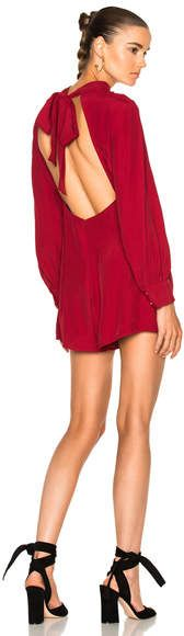 2a2ba2c04e Shop for Zimmermann Collared Tuck Playsuit in Ruby at FWRD.