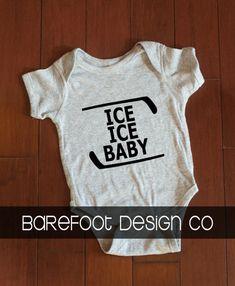 Ice Ice Baby Hockey Onesie by MyCreativeShoppe on Etsy