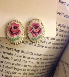 Embroidered Pink/Purple Flower Clipon by MonkberryMoonDelight, $10.00