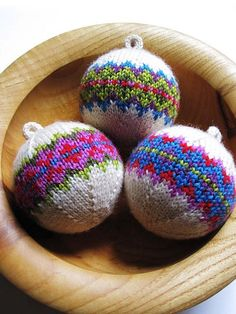 Knitted ornaments by General Hogbuffer..