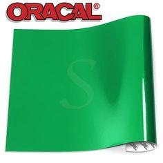 Oracal 751 Glossy Vinyl Sheets - Light Green