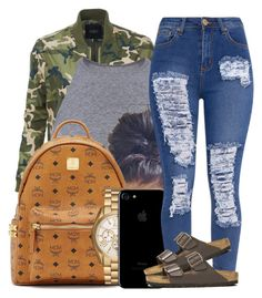 """""""Contest"""" by jalay ❤ liked on Polyvore featuring LE3NO, MCM, Michael Kors and Birkenstock"""