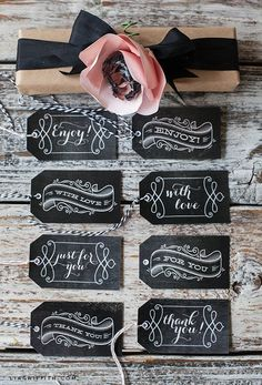 Free Printable Vintage Chalkboard Tags (as reccomended by @GirlofCardigan