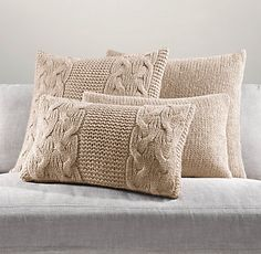 cable knit cushions