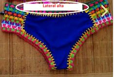 Brasil Tricô & Crochê - Handmade: Bikini com elastico ....calça alta. Crochet Dishcloths, Crochet Stitches, Knit Crochet, Mode Du Bikini, Bikini Inspiration, Crochet Bikini Pattern, Diy Clothing, Crochet Clothes, Swimwear