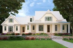 Find your dream modern-farmhouse style house plan such as Plan which is a 2993 sq ft, 4 bed, 3 bath home with 3 garage stalls from Monster House Plans. Modern Farmhouse Plans, Farmhouse Design, Farmhouse Style, Farmhouse Rules, Southern Farmhouse, Southern Style, Country Style, New House Plans, Dream House Plans