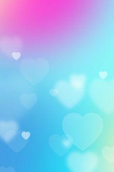 Heart blur iPhone wallpaper cute
