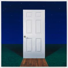 Mathew Cerletty White Door, 2013 oil on linen 88,9 × 88,9 cm (35 × 35 inches)