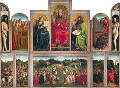 Van Eyck, Polittico di Gand, 1426-1432, Pittura ad olio, Cattedrale di San Bavone, Gand.