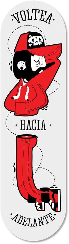 :: Voltea hacia adelante :: by Gabo Galicia / Mr Lemonade , via Behance