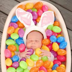 Awwwwwww. Easter baby photo ideas