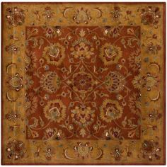 Safavieh Heritage Seymour Hand-Tufted Wool Area Rug, Red