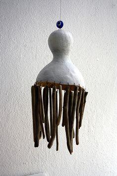 driftwood art - the top is a gourd