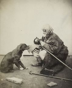 """Crippled Man in Rags with a Dog"" Josef Kordysz, Kiev, ca. 1860"