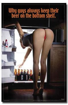 Sexy Girl Bending Over Beer On the Bottom Shelf 24x36 Art Print Poster Girl in sexy pose, bending over beer on the bottom shelf art print poster - 24 x 36 inch. Easy to frame and makes a great gift too. #24x36 #girl #beer #sale #college #funny #sexy #cool