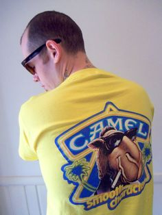 Vintage Camel Joe Pocket TShirt 1989 by WylieOwlVintage on Etsy, $15.00 Yellow Tees, Camel, Polo Ralph Lauren, Pocket, My Style, Cotton, Mens Tops, T Shirt, Etsy