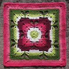 "Butterfly Garden Square 12"" ~ free pattern"