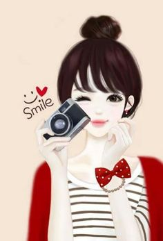 Find images and videos about cute, anime and smile on We Heart It - the app to get lost in what you love. Art Anime Fille, Anime Art Girl, Korean Anime, Korean Art, Lovely Girl Image, Girls Image, Girl Cartoon, Cute Cartoon, Baumgarten