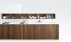 APRILE - Contemporary kitchen / wood veneer / solid wood / marble by Boffi
