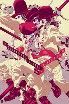 A Clockwork Orange movie poster by Tomer Hanuka