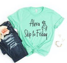 Alexa Skip To Friday T-shirt - L / Heather Raspberry