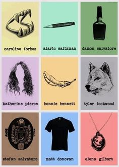 The Vampire Diaries, a symbol for every character