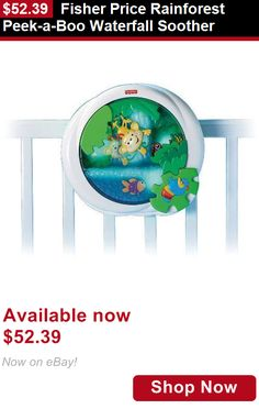 Crib Toys: Fisher Price Rainforest Peek-A-Boo Waterfall Soother BUY IT NOW ONLY: $52.39
