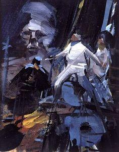Concept artwork by John Berkey for the Star Wars novelization (1977)
