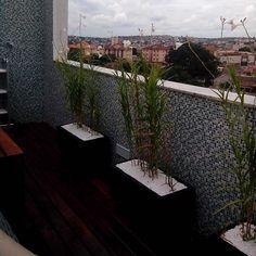Projeto Cobertura - jardim vertical com irrigação automatizada e iluminação. vasos em quartzo Italiano com algumas espécies. Deck, jacuzzi, mobiliários...