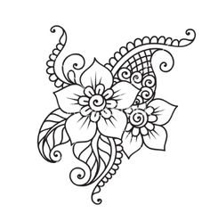 Handdrawn abstract henna mehndi flower ornament vector by iktash . Handdrawn abstract henna mehndi flower ornament vector by iktash . Diy Tattoo, Henna Tattoos, Henna Mehndi, Henna Tattoo Muster, Mehndi Flower, Flower Tattoos, Hand Henna, Mehendi, Henna Flowers