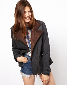 Coopers for ASOS waxed biker jacket. I love the Barbour-esque textiles with a moto jacket cut.