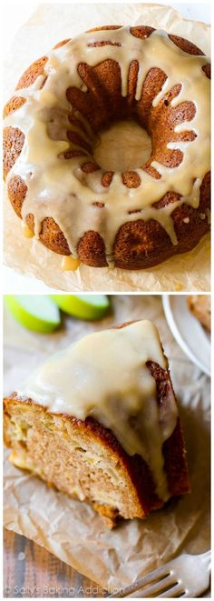 Tender and moist homemade apple bundt cake smothered in a buttery brown sugar glaze. My favorite cake for the crisp fall weather.