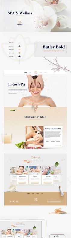Website design for wellness and spa