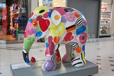 The Elephant parade arrives at Intu Bromley Shopping Centre in London