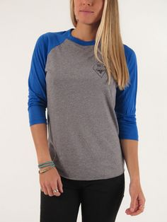 Diamond Bagde 3/4 Sleeve Raglan T-Shirt for women by Obey