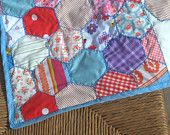 Honeycomb patch cot or pram blanket