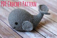 Amigurumi Stuffed Whale Toy Crochet Pattern von CookieSnobCrochet