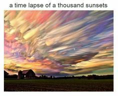 Time lapse of a thousand sunsets.