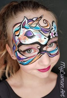 Dragon Face Painting, Face Painting Unicorn, Face Painting Tips, Mask Face Paint, Face Paint Makeup, Face Painting Designs, Painting For Kids, Animal Face Paintings, Painting Station