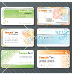 Business cards vector on VectorStock®
